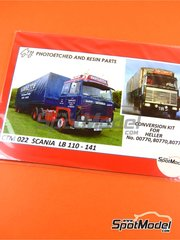 Czech Truck Model: Photo-etched parts 1/24 scale - Scania LB 110-141 - photo-etched parts, plasticard - for Heller kit 80773