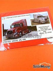 Czech Truck Model: Detail up set 1/24 scale - Volvo VN, VNL - photo-etched parts and assembly instructions