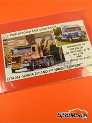 Czech Truck Model: Photo-etched parts 1/24 scale - Scania 142 - 143 - for Italeri references 736, 753, 780 and REV07511