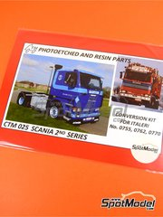 Czech Truck Model: Detail up set 1/24 scale - Scania 142 - full colour photo-etched parts, photo-etched parts and assembly instructions - for Italeri kits 755, 762 y 770