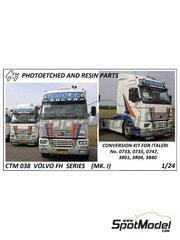 Czech Truck Model: Set de mejora y detallado escala 1/24 - Volvo FH12 / FH16 - fotograbados a todo color, fotograbados y manual de instrucciones - para las referencias de Italeri 3821, 3907 y 3931