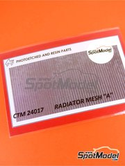 Czech Truck Model: Mesh 1/24 scale - Radiator mesh - photo-etched parts image