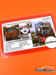 Czech Truck Model: Detail up set 1/24 scale - Scania 4 series - photo-etched parts - for Italeri kit 3903