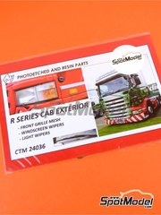 Czech Truck Model: Photo-etched parts 1/24 scale - Scania R series - photo-etched parts - for Italeri kits 3850, 3897, 3903 and 3906