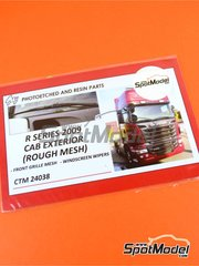 Czech Truck Model: Detail up set 1/24 scale - Scania R series 2009 - photo-etched parts - for Italeri references 3850, 3897, 3906 and 3930