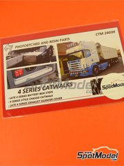 Czech Truck Model: Catwalks 1/24 scale - Scania 4 series - photo-etched parts - for Italeri reference 3903