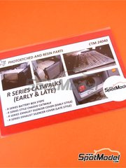 Czech Truck Model: Catwalks 1/24 scale - Scania R series - photo-etched parts - for Italeri references 3897, 3903, 3906 and 3930