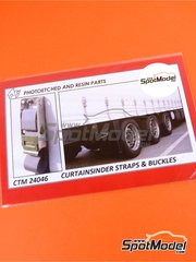 Czech Truck Model: Detail 1/24 scale - Curtainsider straps and buckles - full colour photo-etched parts and photo-etched parts - for Heller reference 80771, or Italeri references 3908 and 3918