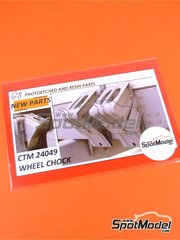 Czech Truck Model: Photo-etched parts 1/24 scale - Wheel chocks - photo-etched parts and assembly instructions