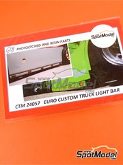 Czech Truck Model: Lights 1/24 scale - Euro custom truck light bar - photo-etched parts