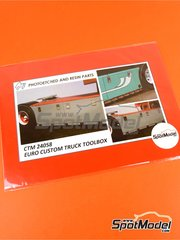 Czech Truck Model: Detail 1/24 scale - Euro custom truck toolbox - photoeched parts image