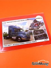 Czech Truck Model: Detail up set 1/25 scale - International trucks chassis parts - photo-etched parts - for Revell kits REV07408 and REV07411