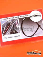 Czech Truck Model: Clamps 1/24 scale - Cable binders - photo-etched parts