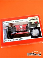 Czech Truck Model: Lights 1/25 scale - US tail lights - full colour photo-etched parts and photo-etched parts image