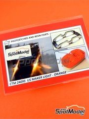 Czech Truck Model: Lights 1/25 scale - US marker lights orange - full colour photo-etched parts and photo-etched parts image