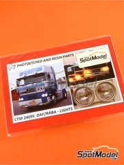 Czech Truck Model: Lights 1/24 scale - DAF and RÁBA - photo-etched parts - for Italeri kits 760, 763 and 777