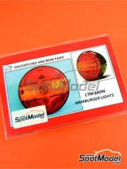 Czech Truck Model: Lights 1/24 scale - Hamburger lights - photo-etched parts