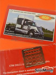 Czech Truck Model: Lights 1/24 scale - US modern marker lights - photo-etched parts - 12 units