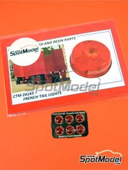 Czech Truck Model: Lights 1/24 scale - French tail lights - full colour photo-etched parts
