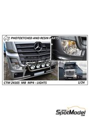 Czech Truck Model: Lights 1/24 scale - Mercedes Benz Actros Gigaspace MP4 - photo-etched parts - for Italeri reference 3905