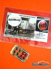 Czech Truck Model: Lights 1/24 scale - US Dietz 474 vintage tail lights - photo-etched parts