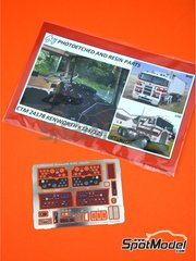 Czech Truck Model: Dashboard 1/25 scale - Kenworth K123 / K125 - full colour photo-etched parts