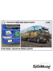 Czech Truck Model: Lights 1/24 scale - Volvo FH12 / FH16 - photo-etched parts - for Italeri references 3821, 3907 and 3931