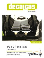 Decalcas: Seatbelts 1/24 scale - GT and Rally seatbelts