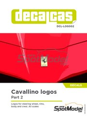 Decalcas: Logotypes 1/24 scale - Ferrari cavallino - water slide decals