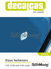 Decalcas: Decals - Dzus fasteners 1/12 1/20 1/24 - water slide decals