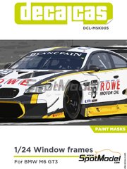 Decalcas: Masks 1/24 scale - BMW M6 GT3 2016 - paint masks and assembly instructions - for Platz references NE24001 and PN24001
