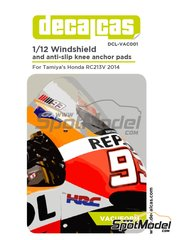 Decalcas: Vacuum formed parts 1/12 scale - Honda RC213V - for Tamiya references TAM14130 and 14130