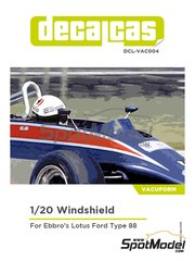 Decalcas: Vacuformado escala 1/20 - Lotus Ford Type 88 - para kit de Ebbro EBR20011