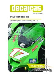 Decalcas: Vacuum formed parts 1/12 scale - Kawasaki Ninja ZX-RR - vacuum formed parts - for Tamiya reference TAM14109