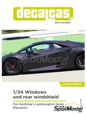 Decalcas: Clear parts 1/24 scale - Lamborghini Sesto Elemento - other materials - for Aoshima references 01073, 010730 and 1073