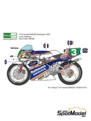 Decalpool: Marking / livery 1/12 scale - Honda NSR250 Rothmans #3 - Luca Cadalora (IT) - Motorcycle World Championship 1991 - water slide decals and assembly instructions - for Tamiya references TAM14059, 14059, TAM14110 and 14110