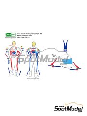 Decalpool: Marking / livery 1/12 scale - Kevin Schwantz Pepsi - Kevin Schwantz (US) - Motorcycle World Championship 1988 - water slide decals and assembly instructions - for Fujimi reference FJ141435, or Tamiya references TAM14122, TAM14123 and TAM14124