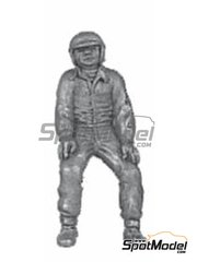 Denizen: Figure 1/43 scale - Sitting on wheel, earlier helmet