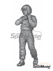Denizen: Figure 1/43 scale - Driver with earlier helmet - white metal parts