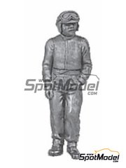 Denizen: Figure 1/43 scale - Standing casual pose, earlier helmet