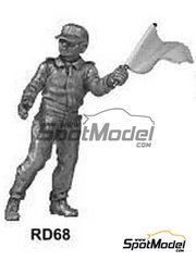 Denizen: Figure 1/43 scale - Marshal waving yellow flag