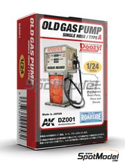 Doozy Modelworks: Model kit 1/24 scale - Interstate old gas pump single hose - Type A - resin parts, water slide decals and other materials - 1 units