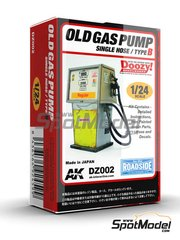 Doozy Modelworks: Model kit 1/24 scale - Old gas pump single hose - Type B - resin parts and water slide decals