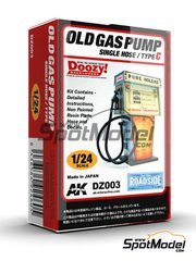 Doozy Modelworks: Model kit 1/24 scale - Old gas pump single hose - Type C - resin parts and water slide decals - 1 units