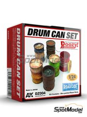 Doozy Modelworks: Model kit 1/24 scale - Drum can set - resin parts