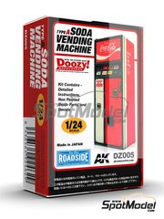 Doozy Modelworks: Model kit 1/24 scale - Coca cola soda vending machine - Type A - resin parts and water slide decals