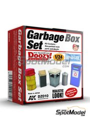 Doozy Modelworks: Model kit 1/24 scale - Garbage box set - resin parts and water slide decals
