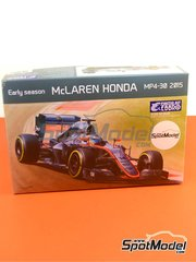 Ebbro: Model car kit 1/20 scale - McLaren Honda MP4/30 Mobil1 #14, 23 - Jenson Button (GB), Fernando Alonso (ES) - FIA Formula 1 World Championship 2015 - plastic model kit