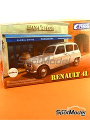Ebbro: Model car kit 1/24 scale - Renault 4L - plastic model kit