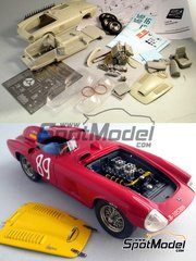 Escuderia24: Model car kit 1/24 scale - Pegaso Z-102 Spider #16, 34, 87, 89 - Antonio Creus (ES), Pablo Gatell (ES) - Spanish Grand Prix, Porto Grand Prix, SPA Grand Prix 1956, 1957 - multimaterial kit
